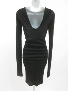 Jean Paul Gaultier Femme Black Fitted Tight Dress Sz 6
