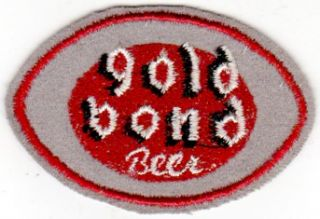 1930s Gold Bond Beer Uniform Patch Cleveland Oh