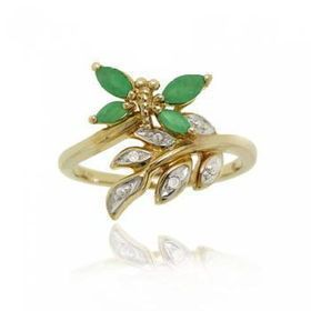 Yellow Gold Bypass Butterfly Ring