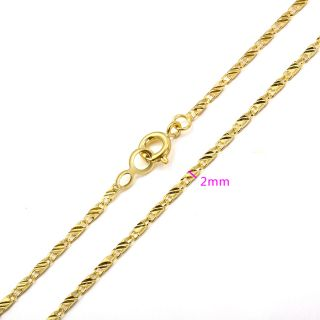 45cm 9K Real Gold Filled Womens Box Chain Necklace C145