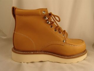mens gear box hunkers tan leather work boots 8 5 ee