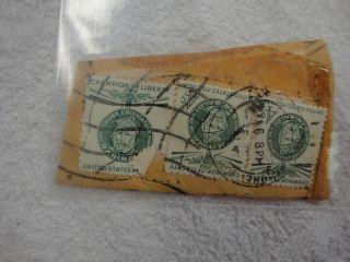 Set of Three Giuseppe Garibaldi 4 Cent US Postage Stamps