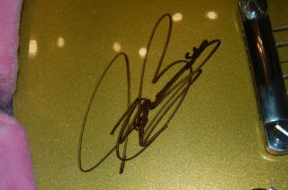 Autographed Epiphone Joe Bonamassa limited first run gold top Les Paul