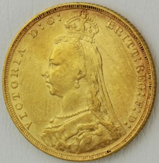 Victoria Jubilee Head 1891 London Mint Full Gold Sovereign Coin