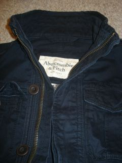 Abercrombie Mens Military Inspire Goodnow MT Jacket Navy Size M