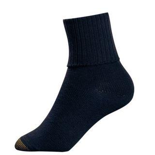Gold Toe Womens Socks Bermuda Turn Cuff Navy 1 Pair