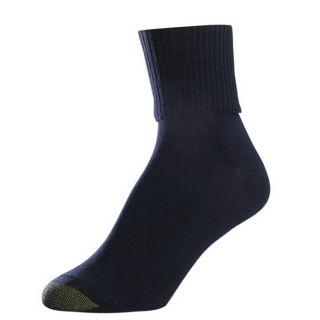 Gold Toe Womens Socks Turn Cuff Black 6 Pairs