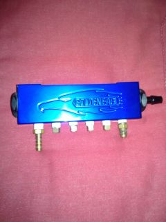 Golden Eagle Blue Vacuum Manifold w Brass Barb Fittings