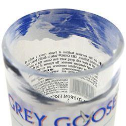 Grey Goose Vodka Recycled Bottle Rocks Glass   12 oz   Hand Cut Unique