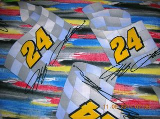 NASCAR Jeff Gordon 24 100 Cotton Fabric BTY Blue Yellow Red Gray 9879