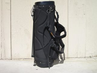 Oakley Black Stand Carry Golf Bag 5 Divider Very Good Condition