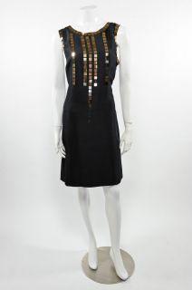 Tory Burch Black Sleeveless Gillies Dress Size 10