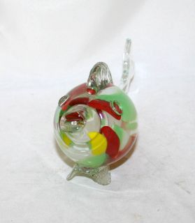Antique Murano Glass Fish Statue Figure Italy Circa 1930