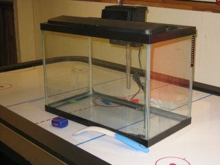 20 Gallon Glass Fish Tank with Pump and Accessories