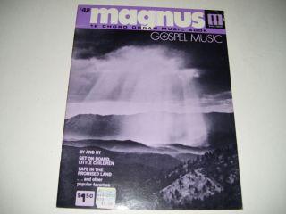 42 Magnus 12 16 Chord Organ Music Book Gospel Music