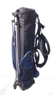 Golfsmith Junior Golf Stand Bag 32 Tall 6 Top 3 Dividers Black Blue