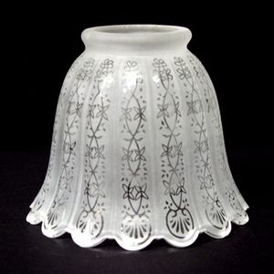 Fitter Decorative Etched Glass Lamp Shade