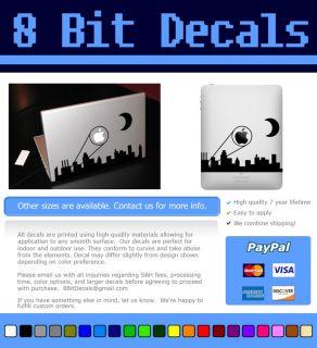 Gotham Skyline Apple Signal MacBook Tablet Vinyl Decal