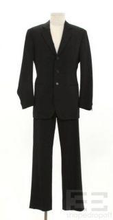 Giorgio Armani 2pc Black Wool Jacket Pants Mens Suit Size 48
