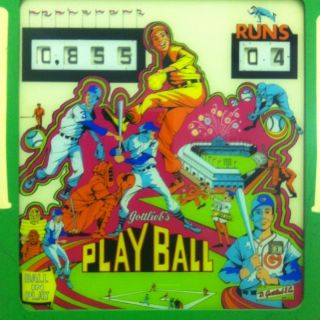 Gottlieb Vintage Pinball Machine Baseball Theme