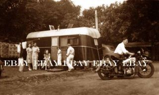 Photo of Early Motorcycle at Old Trailer Park