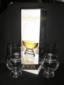 Macallan Twin Pack Glencairn Scotch Malt Whisky Glasses
