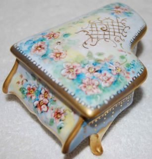 Vintage Hand Painted Piano Trinket Box