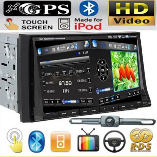 In Dash GPS Navigator 7Car Stereo DVD Player Radio iPod Pip TV BT