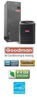 Ton 15 SEER Goodman Air Conditioning System SSX140601 AVPTC42601