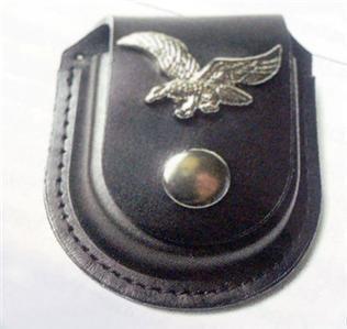 Genuine Leather Pocket Watch Holder Black Brown