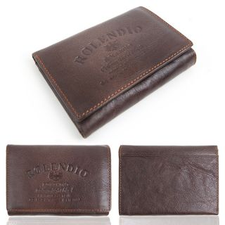 Mens Genuine Leather Trifold Wallet Multi Pocket Purse Clutch ID Card