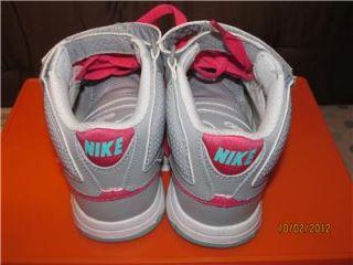 Nike Girls 6 0 Hi Top Shoes Basketball Skater Pink Gray Size 2Y 2
