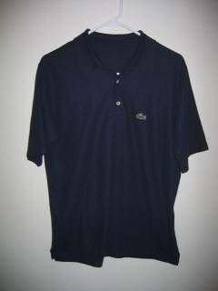 Vintage 80s IZOD Lacoste Navy Blue Polo Shirt Mens s M