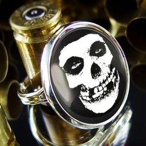 Misfits Glenn Danzig Crimson Skull Horror Punk Goth Silver Adjustable