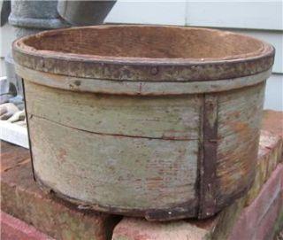 Early Primitive Dry or Grain Measure w Original Green Paint AAFA