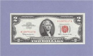 Uncirculated Two Dollar Bill $2 Note Red Seal Granahan Dillon 12875117