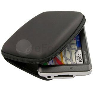 Black Hard Shell Carry Case Cover for Garmin 4 3 GPS
