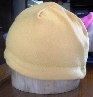 Double Layered Handmade Gold Color Fleece Chemo Cap Beanie Style Hat