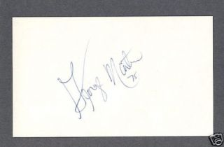 George Martin Signed Football Index Card