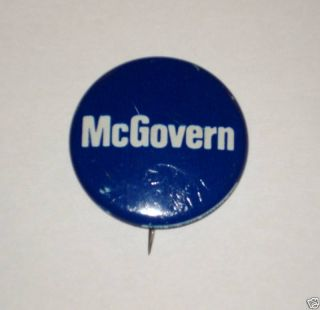 George McGovern Campaign Pin Pinback Button Political