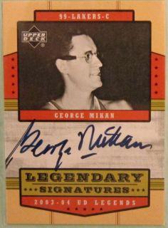 03 04 UD Legends George Mikan Auto Autograph RARE