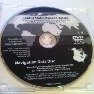 GM CHEVROLET CADILLAC GMC NAVIGATION DVD 25850927U YUKON H2 TAHOE