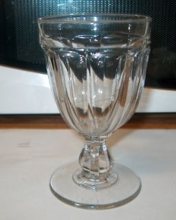 Early Antique Stemware Glass Glasses Goblets Mold Blown Pontil