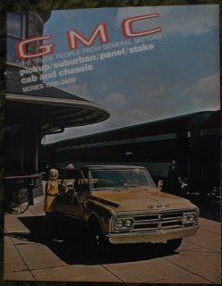 1970 Origiona GMC Pickup Suburban Chassis Brochure