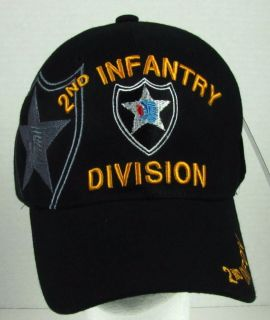 New Black Military U s Army 2nd Infantry Division Baseball Cap Hat