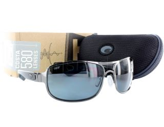 NEW Costa del Mar Grand Isle GL 22 OGP 580P Gunmetal / Grey Polarized