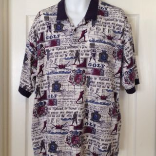 Vtg Mens XL Grand Slam Penguin Golf Polo Unique RARE Shirt Very Soft