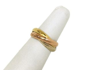 Cartier Tri Color 18K Gold Trinity Rolling Ring Size 54