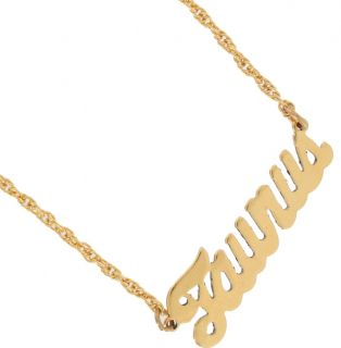 Necklace Pendant Gold Plated Zodiac Astrology Made in USA Taurus