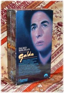 Woman Called Golda VHS Ingrid Bergman Judy Davis Excl